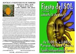 Manifiesto y cartel Fiesta SoLyLuNa