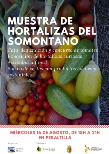 Cartel_Muestra de hortalizas del Somontano_Peraltilla_20170816
